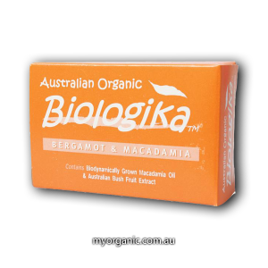 ORG04 - Biologika - Organic Bergamot Macadamia soap (100g)