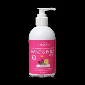 ORG74 - Biologika - Organic Citrus Rose Hand & Body Wash (250ml)