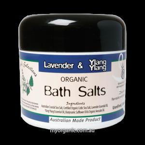 OS17- Organic Selections - Organic Lavender- Ylang Ylang Bath Salts (200g)